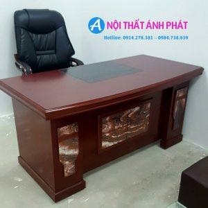 Thanh lý bàn giám đốc sơn PU 1m6x80cm mới 99%