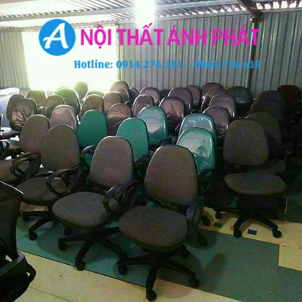 Thanh lý ghế xoay nhân viên Hòa Phát cũ 98%
