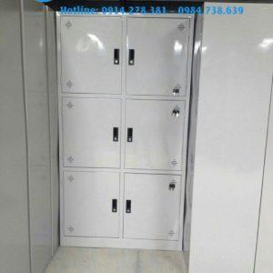 Thanh lý tủ locker 6 ngăn tĩnh điện mới