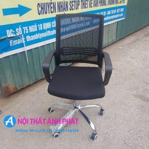 Thanh lý ghế lưới lưng vuông chân xoay mới GXNV550