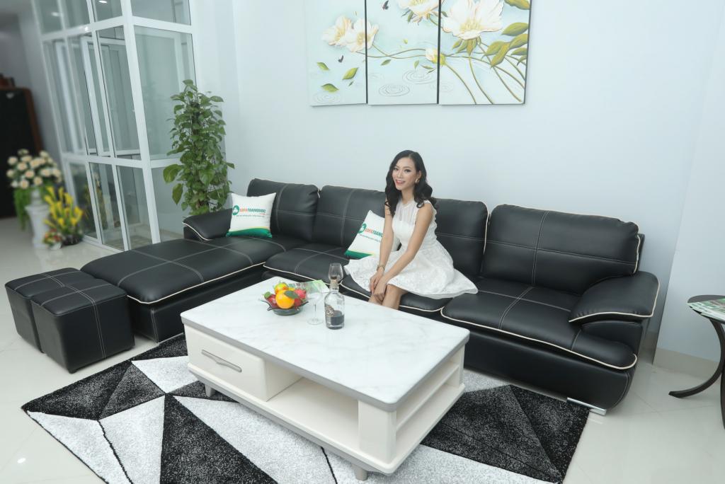 2. sofa nhật đen thanh lý3