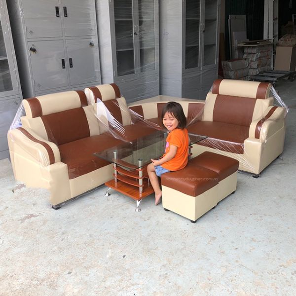 Sofa góc vàng cam giá rẻ 2