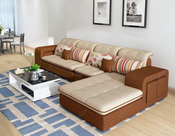 Sofa góc vàng cam giá rẻ 3