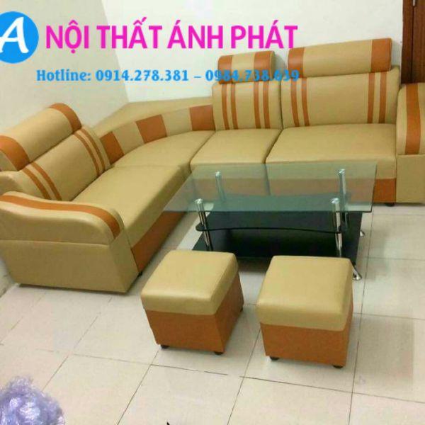 Sofa góc vàng cam giá rẻ 1