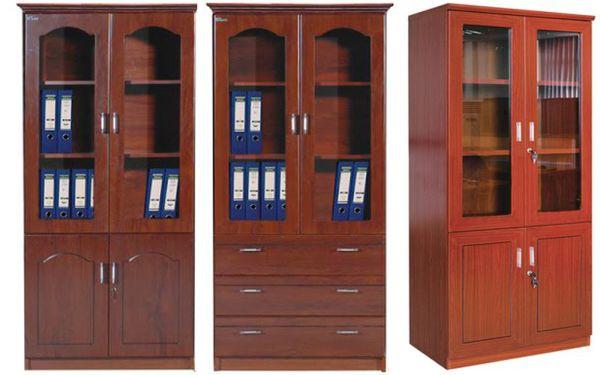 bán tủ hồ sơ 3 cánh kính sơn pu giá rẻ1