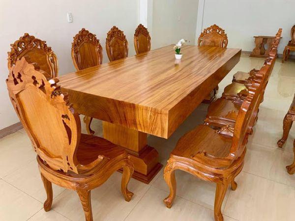 bàn họp gỗ tự nhiên2