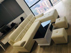 sofa L bọc da hàn quốc mới