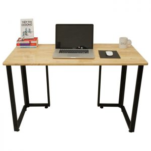 Bàn làm việc chân sắt mặt gỗ xu hướng mới cho thiết kế văn phòng