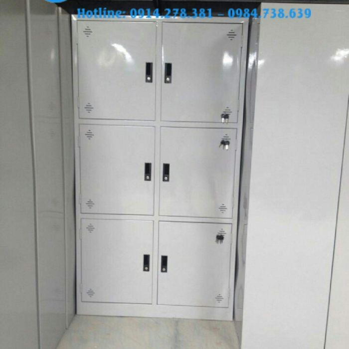 Tủ locker 6 ngăn thanh lý