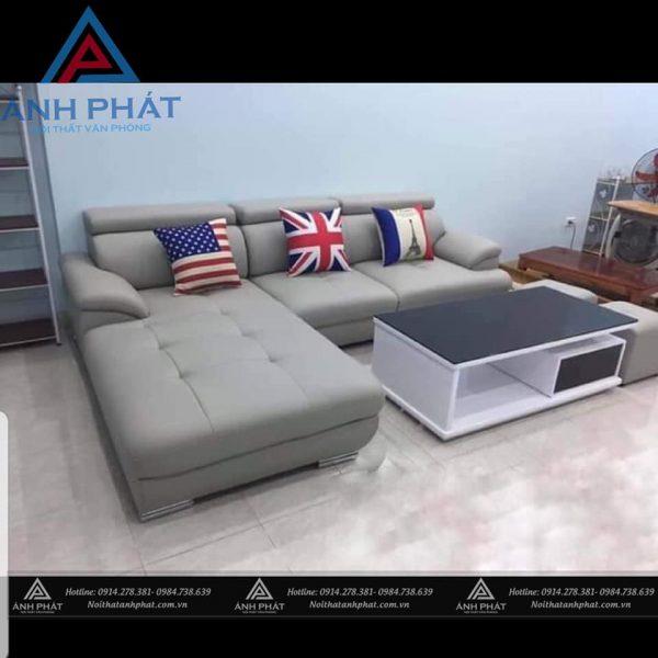 sofa góc bọc da hàn quốc